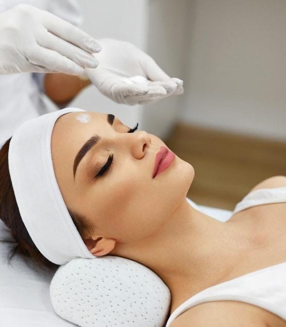 Patient receiving facial rejuvenation services