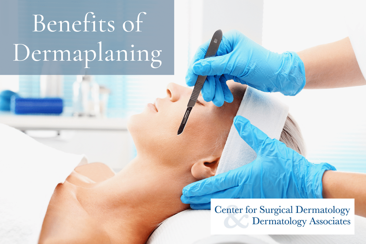 Woman Receiving A Dermaplaning Treatment At The Center For Surgical Dermatology To Take Advantage Of The Benefits Of Dermaplaning